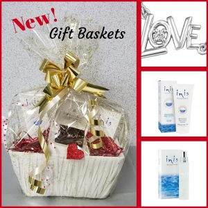 Gift Baskets - Diamond Pendant, Inis Lotion