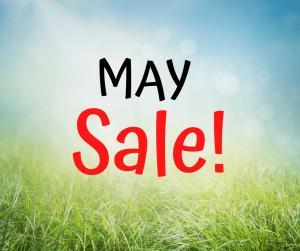May Sale - Facebook Live May 15th at 2:00PM
